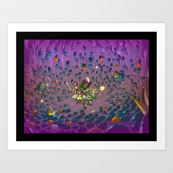 Slimed ! Art Print