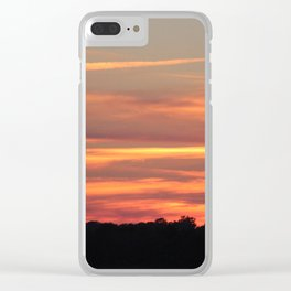 Colorful Clouds Clear iPhone Case