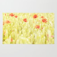 poppies Area & Throw Rugs featuring Poppies by Falko Follert Art-FF77
