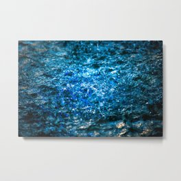 Water Color - Blue Metal Print