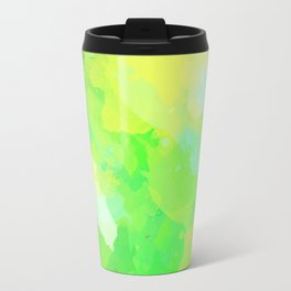 Colorful Abstract - green pattern, forest, nature Travel Mug