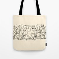 misfits Tote Bags featuring Misfits by 5wingerone