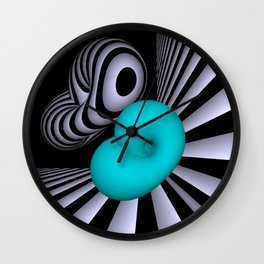 go turquoise -10- Wall Clock