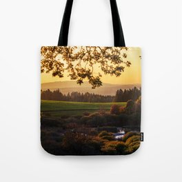 Meadow and Pond Landscape Tote Bag
