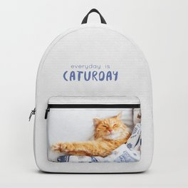 Everyday is caturday Backpack