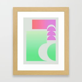 Watermelon Abstract Graphic Exploration  Framed Art Print