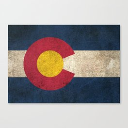 Old and Worn Distressed Vintage Flag of Colorado Canvas Print