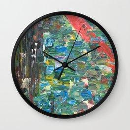 Feu de forêt Wall Clock