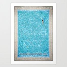 El Nadador Art Print