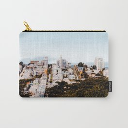 City view with blue sky at San Francisco California USA Carry-All Pouch