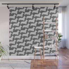 Corgi Silhouette(s) Wall Mural