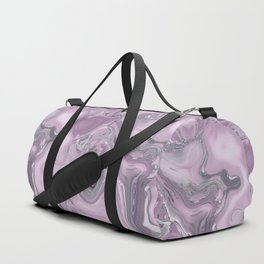 Gemstone Agate Collage Pink and Gray Duffle Bag