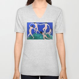 Danse (I) (Dance 1), Henri Matisse, 1910 Artwork Design, Poster Tshirt, Tee, Jersey, Postcard Unisex V-Neck