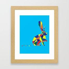 Wingless Wolpertinger (A.K.A Jackelope) Framed Art Print