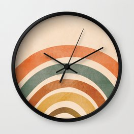 Retro Rainbow Wall Clock