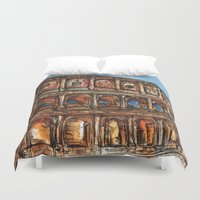 rome Duvet Covers featuring Rome by BenJ Curtis