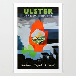 Railwayposter Ulster Art Print