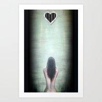 Caged Love Art Print
