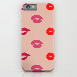 Pink Lips Print iPhone Case