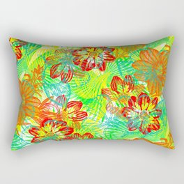 Etched Anemone Rectangular Pillow