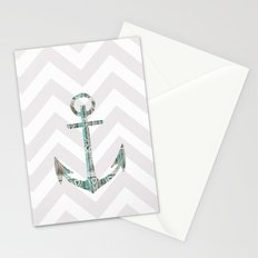 Tribal Anchor and Chevron  Stationery Cards