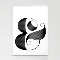 ampersand Stationery Cards featuring Ampersand by Jude Landry