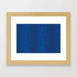 Blue Shadowed Leopard Print Framed Art Print
