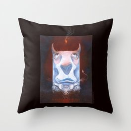 Handsome Devil Throw Pillow