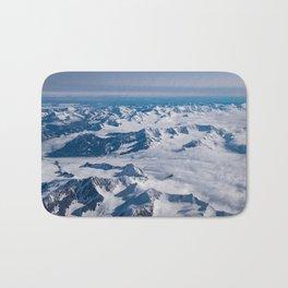 Aerial Glacier Four - Alaska Bath Mat