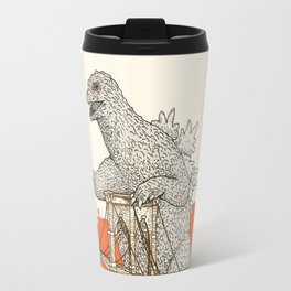 Godzilla vs. the Brooklyn Bridge Travel Mug