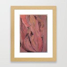oil abstract  Framed Art Print