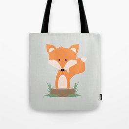 Fox on Stump Tote Bag