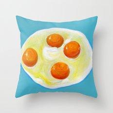 Four Fried Eggs  Throw Pillow