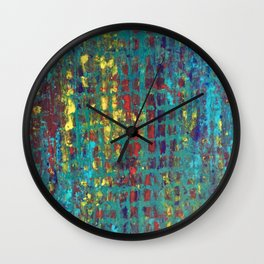 City Lights and Urban Profundities Wall Clock