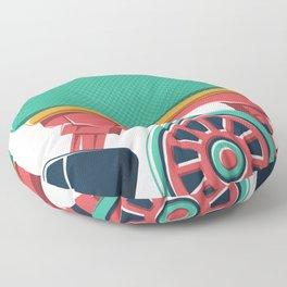 old school roller skate Floor Pillow