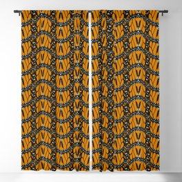 Monarch Butterfly Wings Abstract Patterned Print Blackout Curtain