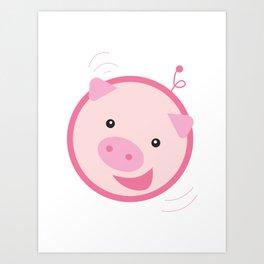 Picky Pinky Piggy Art Print