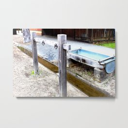 Empty Trough, Overflowing Gutter Metal Print