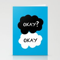 okay Stationery Cards featuring Okay by Hoeroine