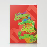 tmnt Stationery Cards featuring TMNT - Bros! by Taiyari