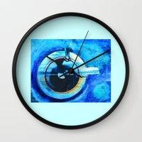 coffe Wall Clocks featuring Coffe Cup Daydreams by Endless Elizabeth