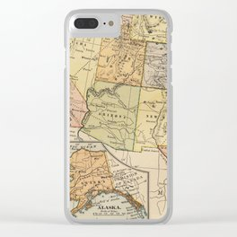 Vintage South West USA Map Clear iPhone Case
