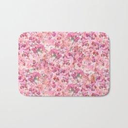 Pink Leaves Bath Mat