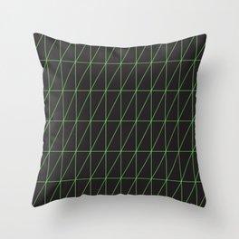 Neon geometric pattern 1 - Green Throw Pillow