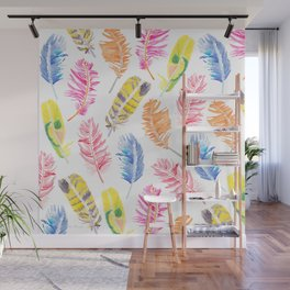 Whimsical Feathers Wall Mural