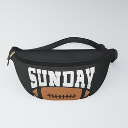 Sunday Funday Funny Football graphic for Sport Lovers Fanny Pack