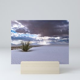 Yucca Plant in White Sands in New Mexico Mini Art Print