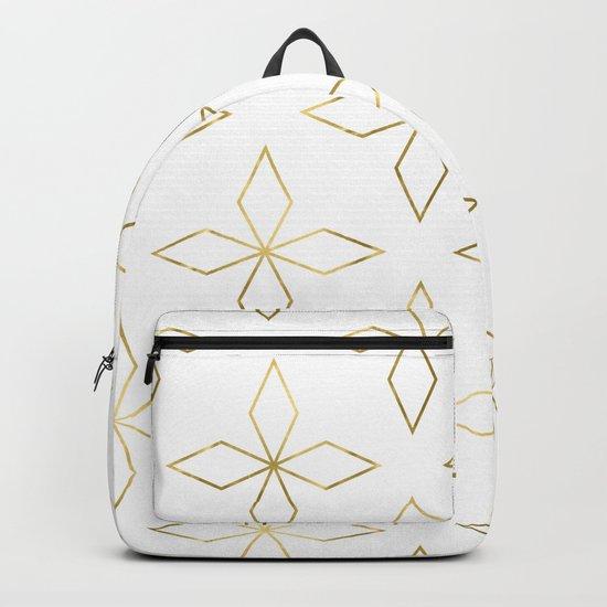 Gold Modern Deco 1 Backpack