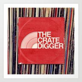 THE CRATE DIGGER FACE Art Print