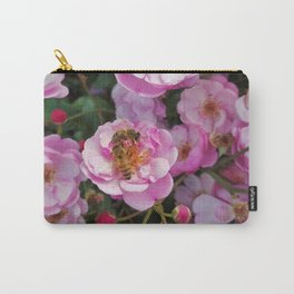 Honeybees on Flowers Carry-All Pouch